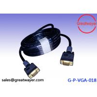 China Gold Plated Video Graphics Array HD15pin 3+6  AWM Wiring Diagram , Vga Connector Cable wholesale