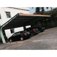 Wholesale Small Car Parking Shed Garage Steel Frame With Red Arc Shape Roof Top from china suppliers