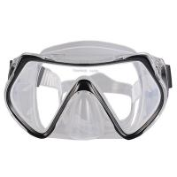 China One Piece Lens Scuba Diving Mask For Adult With Silicone Strap , CE Passed wholesale