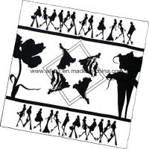 China Customer Design Silk Promotion Scarf (DX1026-4) wholesale
