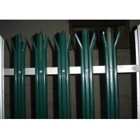 China Anti Climb Security Palisade Fencing Gates For Lawns / Villas , Metal Picket Fence Panels wholesale