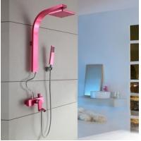 China Shower Sets Waterfalls Shower Valves Mixer Shower Valve Pink Color wholesale
