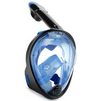 Quality Liquid Silicone Full Face Snorkel Mask SEA Vision 180 degree View for sale