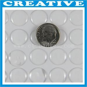 China 1/2 Inch round shape clear epoxy resin sticker wholesale