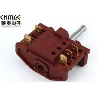 China 12A 250VAC 6 Position Rotary Switch , Sp6t Power Rotary Switch Brass Terminal wholesale