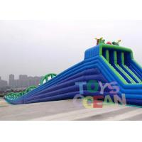 Quality Large Hippo Inflatable Water Slide With 4 Lanes Slip N Slide For Adult for sale