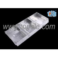China Electrical Metallic Ceiling Outlet Box Covers 1 + 1 + 1 Gang Conduit wholesale