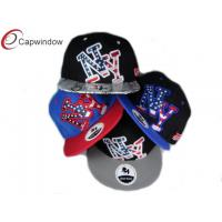 China Fancy Acrylic Snapback Baseball Caps with Heavy Cotton Reinforced Sweatband wholesale