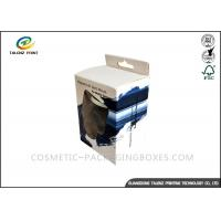 China Black / Blue Electronics Packaging Boxes Glossy Finishing With PVC Window wholesale