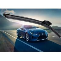 China WinterCar Window Wiper Blades , Black Flat Wiper Blades WithPOM Adapter wholesale