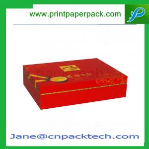 China Custom Printed Rigid Cardboard Boxes Set-Up Mooncake Box Paper Gift Box on sale