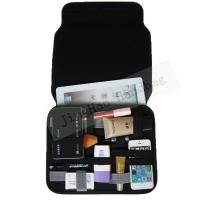 China Gadget Bag Organizer Travel , Double Layers Neoprene Electronic Organizer Bag wholesale