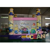 China Huge 5x4m Minions Inflatable Bouncer Combo With 5 Years Warranty wholesale