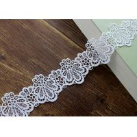 Buy cheap Azo Free DTM Guipure Embroidered Dress Lace Trim Ribbon With High Color Fastness from wholesalers