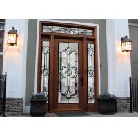 China Tempered Safety Patterned Glass Panels Brilliance For Internal Doors wholesale