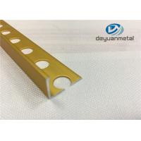 China Bright Gold  Aluminium Floor Profile  L With Hole Punched wholesale