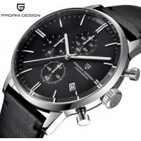 Buy cheap PAGANI DESIGN Fashion Men Chronograph Calendar Waterproof 30M Genuine Leather from wholesalers