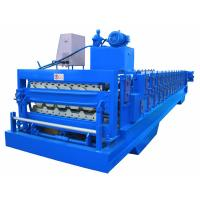 China Automatic PLC Frequency Control Double Layer Roofing Sheet Roll Forming Machine wholesale