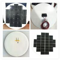 China High Efficiency Round Solar Panels , Rollable Solar Panel Bear Wind Pressure wholesale