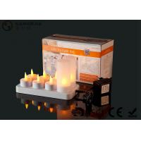China 4set / 6set / 8set / 12set Rechargeable Tea Lights With Remote Control wholesale