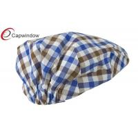 Quality Brown Blue Boy's Plaid Driving Ivy Fitted Baseball Hat with Polyester for sale