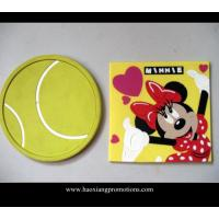 China Customized embossed 3D relief logo soft eco-friendly silicone rubber pvc cup coaster wholesale