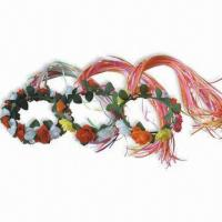China Flower Headband, Available in Red and White Flower, Suitable for Children wholesale