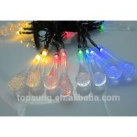 China led solar lights water drop 5m 20leds colorful chiristmas lights on sale
