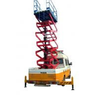 China 11 Meters Truck Mounted Scissor Lift For Work At Height Man Lift 500Kg wholesale