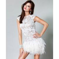 China Chic Open back lace Short Cocktail Party Dresses with short sleeve wholesale