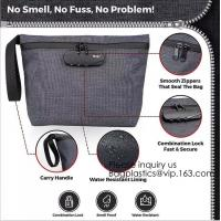 China Smell Proof Bag Premium Odor Proof Container/Carbon Lined Pouch Locks In Scents And Smelly Odor Great For Home Or Travel on sale