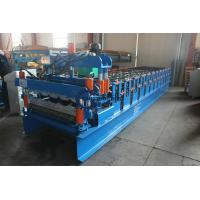 China Auto 840 Metal Roofing Sheet Roll Forming Machine PPGI / GI Material With PLC Control wholesale