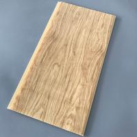 China Yellow Wood Pvc Panel For Ceiling Decorative 25cm Width OEM / ODM Available wholesale