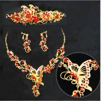China Exquisite Handmade Animal Jewelry Necklace Earrings Crown for Womens , Girls wholesale