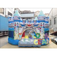 China Birth Blue Kids Inflatable Bounce House For Rent Folding Transparent wholesale