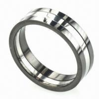 China Stainless Steel Ring, Comes Alive with Colorful Stones, Nickel- and Lead-free wholesale