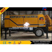 China Electric Trailer Pump Concrete Equipment 0.6/1400 M3/Mm Feeding Height wholesale
