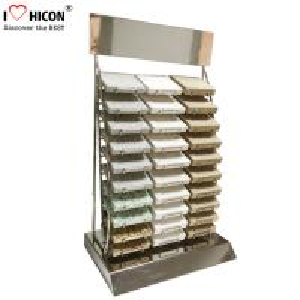 China Custom Countertop Metal Wire 30 Piece of  Marble Tiles Display Racks wholesale