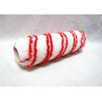 "China 7"" Red And White Stripe PP Rod Paint Rollers For Smooth Finish With Plastic Handle wholesale"
