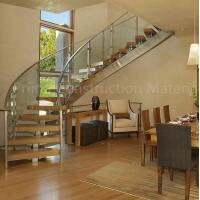 China Internal residential glass treads curved staircase wholesale