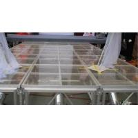 China Portable Glass Acrylic Stage Platform For Performances 1.22 * 2.44M wholesale