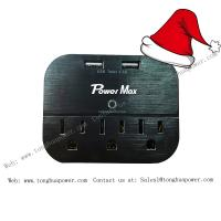China Surge protector with 2 USB 3 outlet wall tap wall plate for home and office use on sale