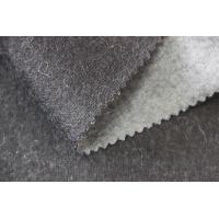 China Simple Plush Fleece Fabric , Smooth Hand Feel Grey Wool Upholstery Fabric on sale