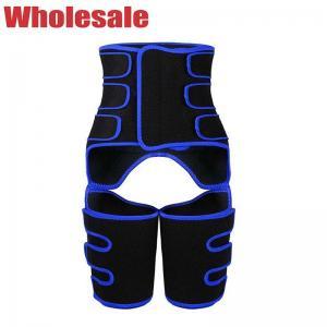 China Blue Velcro Three Belt Neoprene Waist And Thigh Trimmer Customized wholesale