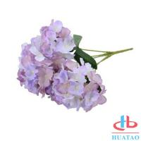 China PE Artificial Hydrangea Flowers For Wedding / Parties Decoration wholesale