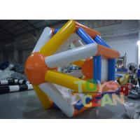 China Floating Inflatable Water Game Inflatable Hamster Wheel Water Roller wholesale