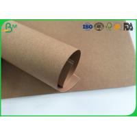 China Grade AAA Kraft Brown Paper Roll , Test Liner Paper For Making Corrugated Box wholesale