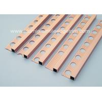 Buy cheap Durable 10mm Metal Square Edge Tile Trim For Counter Top Or Window Sill from wholesalers