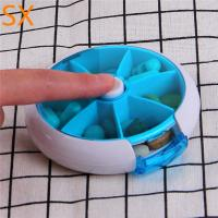 China Hot sell in may Portable travel medicine storage box for the elders,7 day weekly pill box wholesale