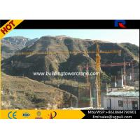 China 60m Span Fixed / Mobile Tower Crane 500m Rope Length For Building wholesale
